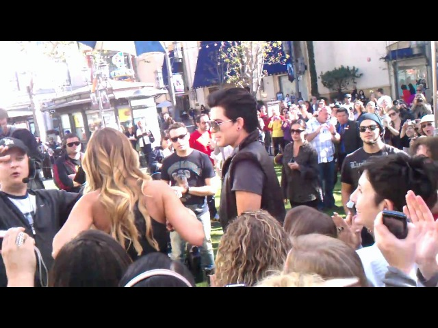 Adam Lambert Extra TV Interview @ The Grove Pt. 5