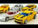 Трансформеры Бамблби Сайдсвайп Автоботы Игрушки Видео для Детей Мультики про М