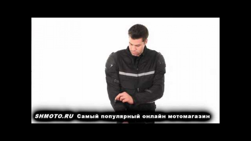 Мотокуртка Xelement CF-751 Men's Black Motorcycle Breathable Level-3 Armored Tri-Tex Jacket
