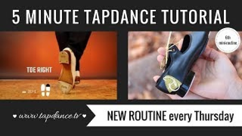 Maxi Ford - Tap Dance Tutorial 6th mini-routine - 5 minutes