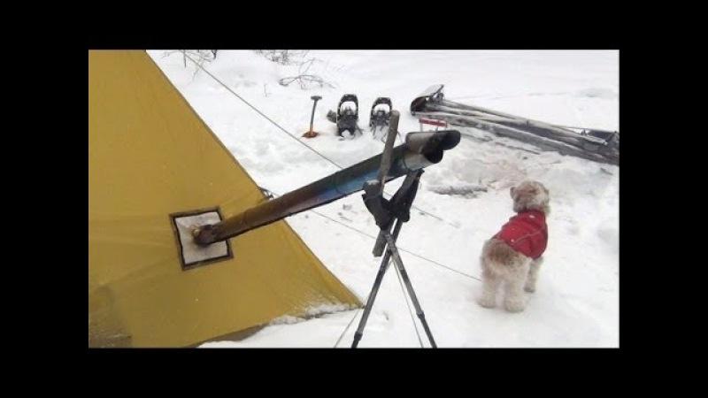 Hot Tent Snowshoe Toboggan Overnight