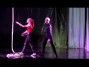 Суркова Елизавета и Григорьев Максим Воздушная гимнастка на корд де парель Под дождем