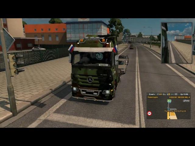 Везём упакованное стекло в Euro Truck Simulator 2