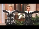 Madonna teaches Ellen how to vogue Ellen dons Madonna's corset