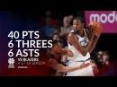 Kevin Durant 40 pts 6 threes 6 asts vs Blazers 1718 season