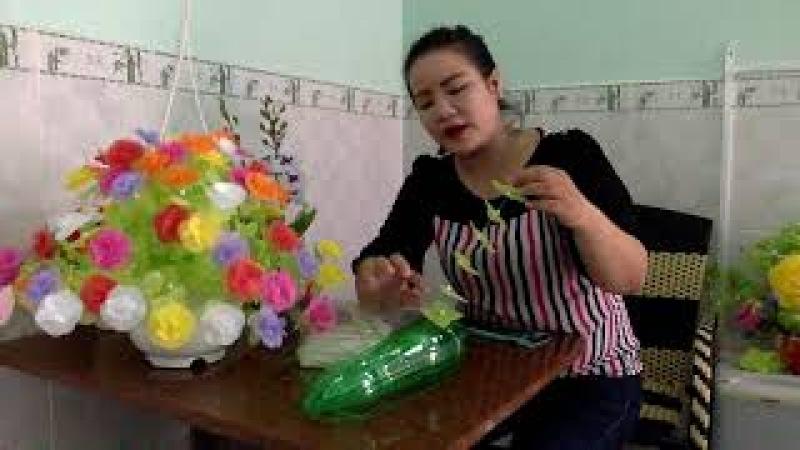 Hướng dẫn làm hoa giấy lụa _HOA 5 CÁNH TRÒN (LONG HẢI, BRVT SĐT 090.7519890)
