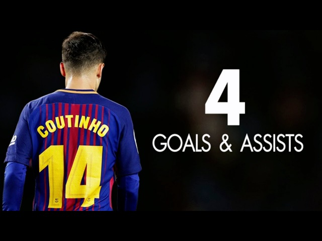 Philippe Coutinho ● All 4 Goals Assists for BARCELONA