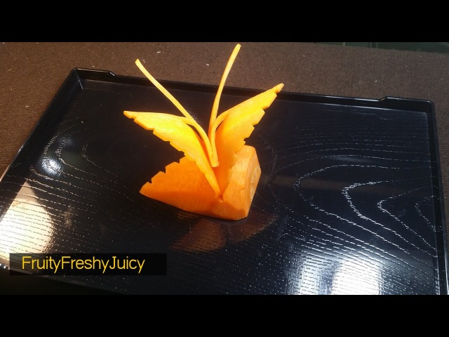 How To Make Butterfly - Carrot Carving Butterfly