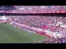 La afición sevillista se divierte durante el Sevilla FC Depor