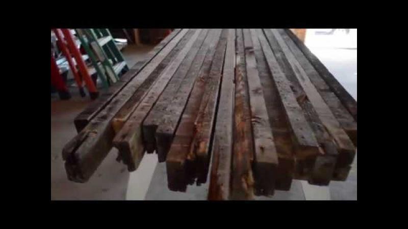 Стол из старых досок как сделать