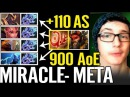 Crazye Attack Speed Buff Miracle Beast Master 900 AOE 110 AS Dota 2