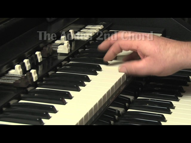 LESSON 10 - HOW TO PLAY JAZZ ROCK LICKS ON A HAMMOND B3 or C3 ORGAN