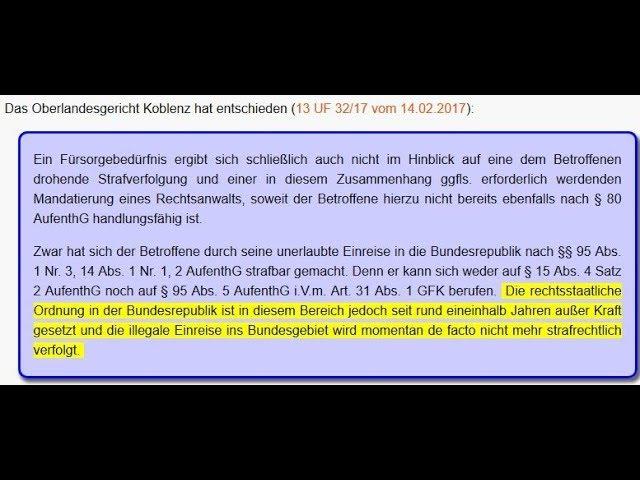 OLG Koblenz Rechtsstaatliche Ordnung in Deutschland ist außer Kraft gesetzt!