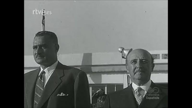 Gamal Abdel Nasser se entrevista con Francisco Franco. Año 1960