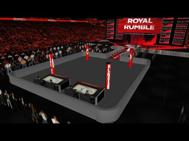 WWE Royal Rumble 2018 Real Arena -WR3D - Link in Description