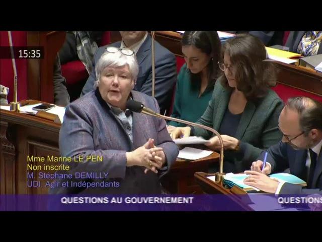 Marine Le Pen s'insurge contre une forme de privatisation de la police