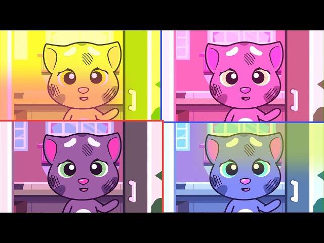 Phim hoat hinh hay 3d_Chơi đùa cùng mèo my talking Tom - Trò chuyện với Tom và bạn bè Minis Tập 20