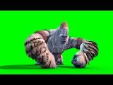 Green Screen Monster Yeti Bigfoot Walk Attack Die - Footage PixelBoom