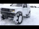 Rc scale studio model 4x4 1:10  MST CFX Mitsubishi pajero Raid scale run