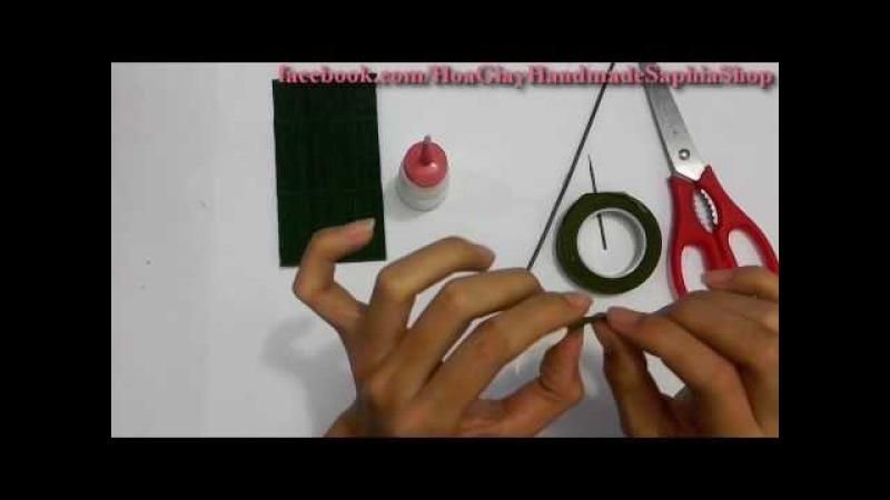HOA LINH LAN từ giấy nhún | LILY OF THE VALLEY | Hoa giấy nhún made by Saphia
