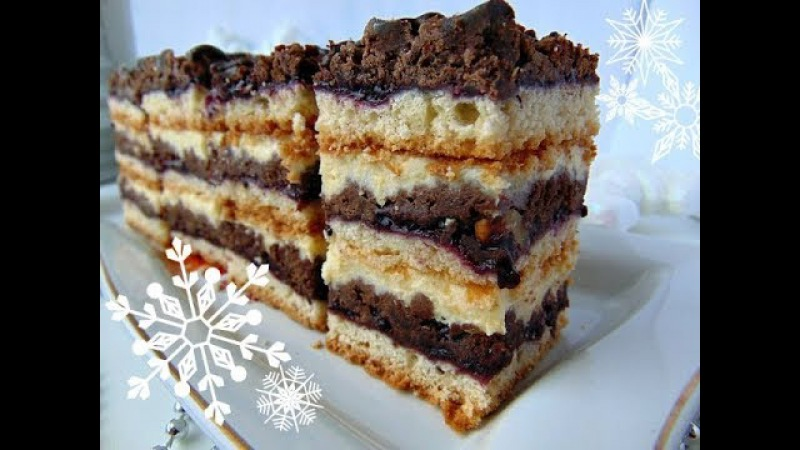 Пляцок з горіхами Джміль- торт с орехами Шмель - рецепти Лілії Цвіт