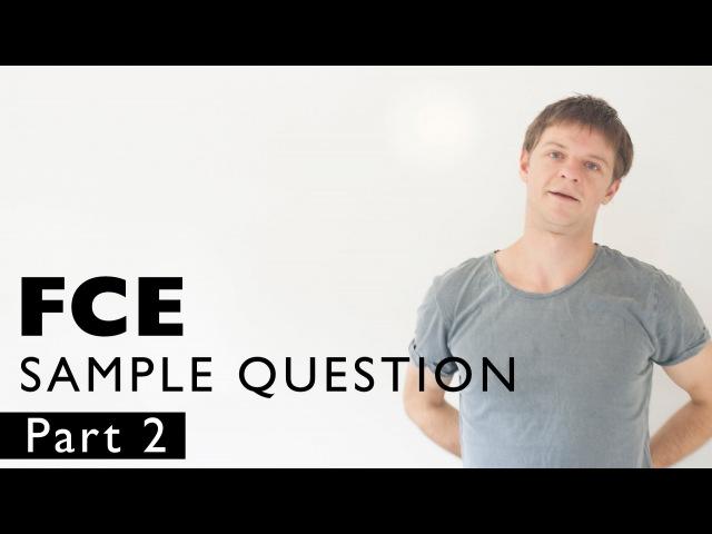 FCE SAMPLE QUESTION 1 - lesson 2