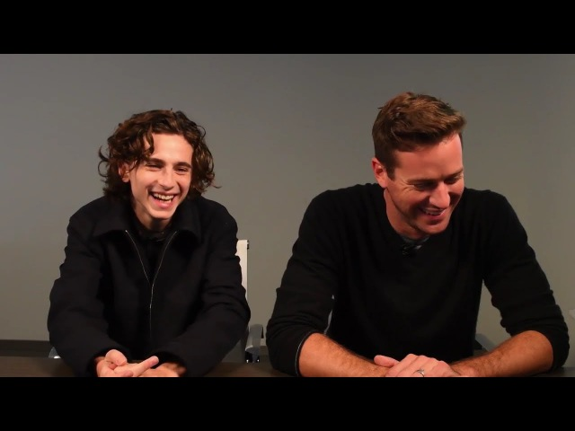 Armie Hammer Timothée Chalamet cute moments (Part 3)