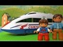 Видео про поезда для детей - Новый поезд Сапсан - Игрушки для мальчиков