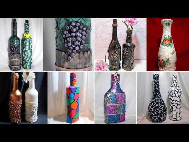 20 идей декора бутылок. Декор своими руками