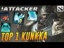 Attacker TOP 1 Kunkka in the WORLD Dota 2