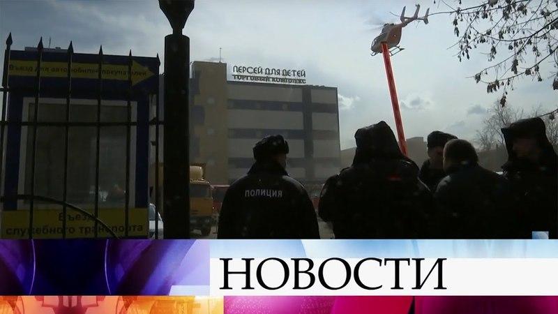 В Москве у метро «Семеновская» загорелся комплекс «Персей для детей».