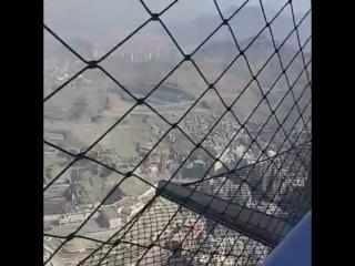 Вид на Каабу с Королевской часовой башни в Мекке.