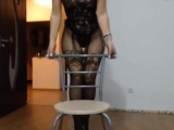 Девушка стриптиз клевая попка белье стринги