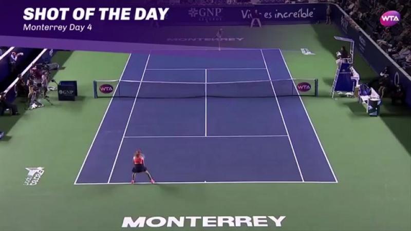 Ализе Корне | лучший удар 4-го игрового дня на турнире Монтеррей 2017