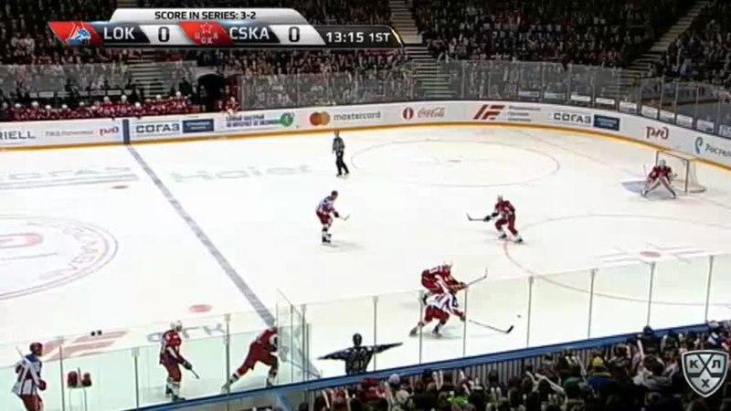 Моменты из матчей КХЛ сезона 17/18 • Гол. 1:0. Красковский Павел (Локомотив) открывает счет матча 18.03