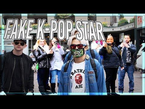 FAKE K-POP MEMBER IN PUBLIC! crowds went crazy fake celebrity prank