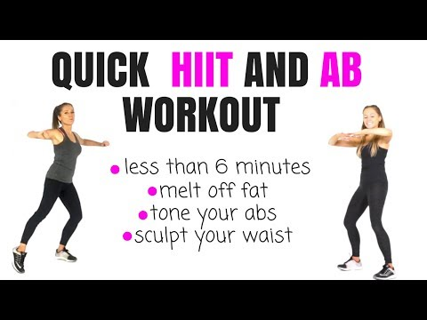 QUICK HOME HIIT WORKOUT - BURN CALORIES AND TONE AND SCULPT YOUR ABS - NO EQUIPMENT NEEDED
