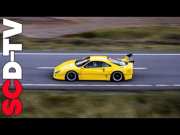 Ferrari F40 Flat Out in the Highlands!