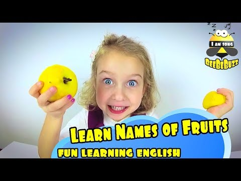 Learn Names of Vegetables and Fruits Educational Video song for Kids