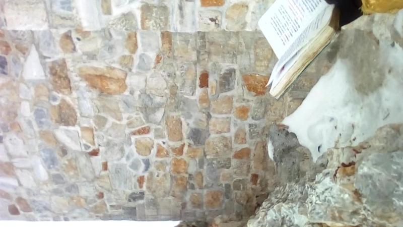 Молебен на вершине Святой Горы Афона после восхождения.