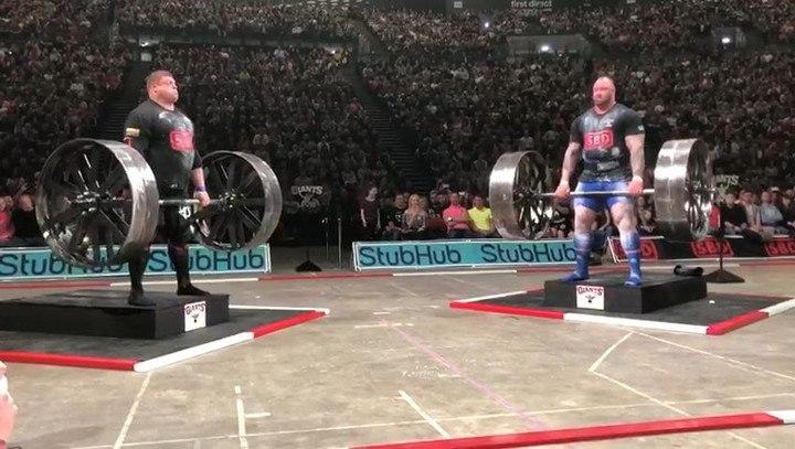 "Hafþór Júlíus Björnsson on Instagram: ""Took comfortable first place in the deadlift. 6 reps on a Axle deadlift 360kg/792lb! @australianstrengthcoac..."