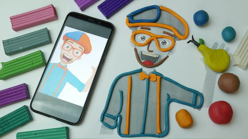 Blippi Learn Color from plasticine   Educational Videos for Toddlers