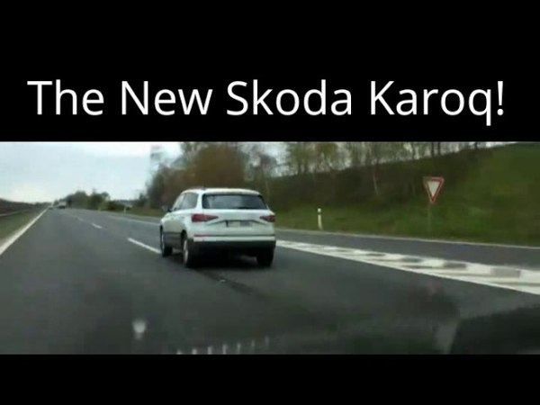 Skoda Karoq SUV 2017 EXPOSED ON HIGHWAY