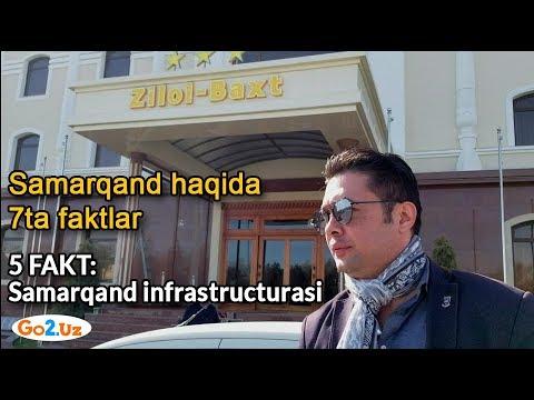 Samarqand haqida 7ta faktlar (5 fakt: Samarqand infrastructurasi)