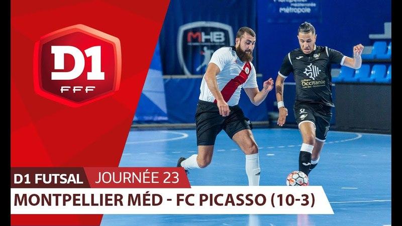 J23 : Montpellier Méditerranée - FC Picasso (10-3)