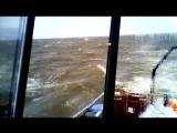 GUARDIAN J 22. Небольшей шторм в Обской губе .Волна 4метра . Ветер 28 М/С.