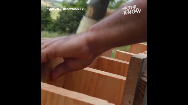 Деревянный ЛЕГО - дом.