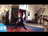 Девочка потрясающе владеет навыками боевого искусства