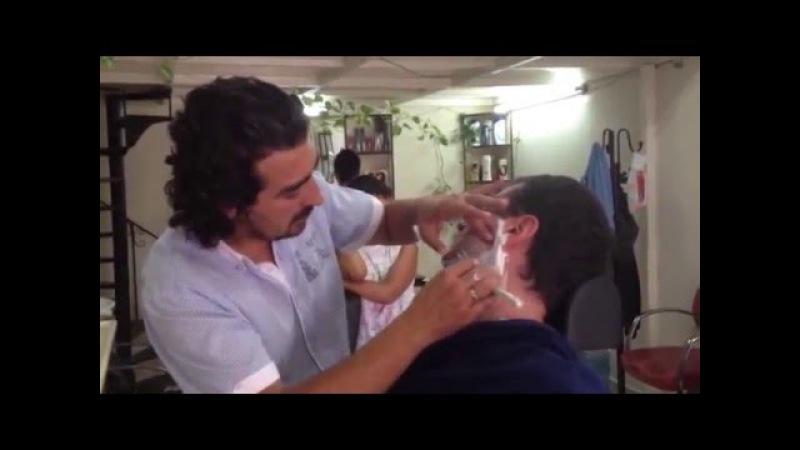 Turkish barber in Kusadasi - Kuafor Ercan (Turchia)