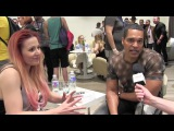 ESCKAZ in Madrid Interview with Valentina Monetta &amp Jimmie Wilson (San Marino) at ESPreParty